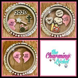 Jewelry - Mother Daughter Split Heart floating locket SETS!